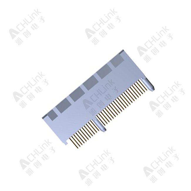 PCI-express 64Pin Slot.1.00 Pitch. W/Post. wall close style. Vert. DIP Type