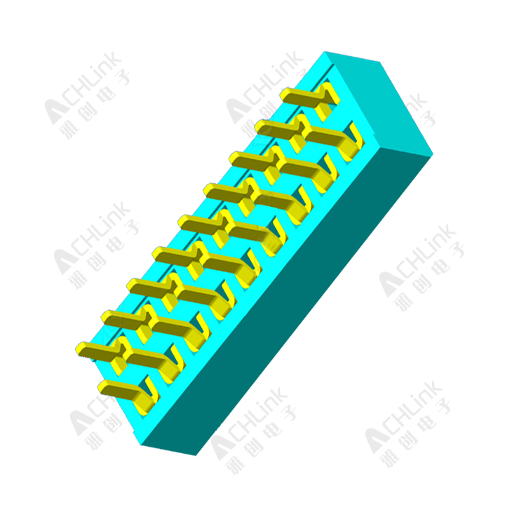 Female1.00 mm  Header Dula Row Straight h=2.0mm
