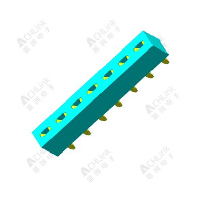 Female Header 1.00 mm Single Row Straight h=2.0mm