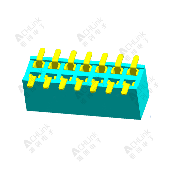 Female Header1.27MM double row SMT with positioning column H=3.4MM