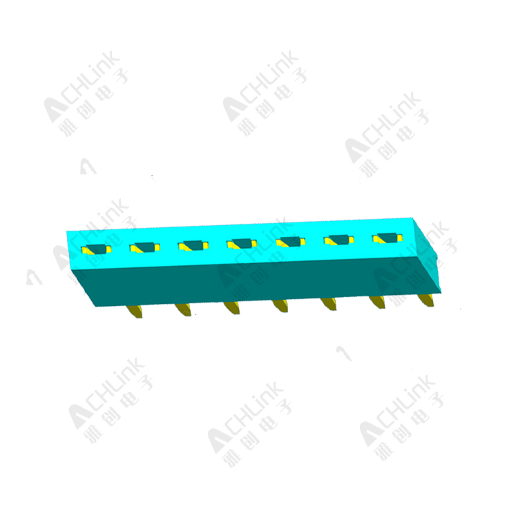 Female Header 1.27mm Single Row Straight H=4.3mm