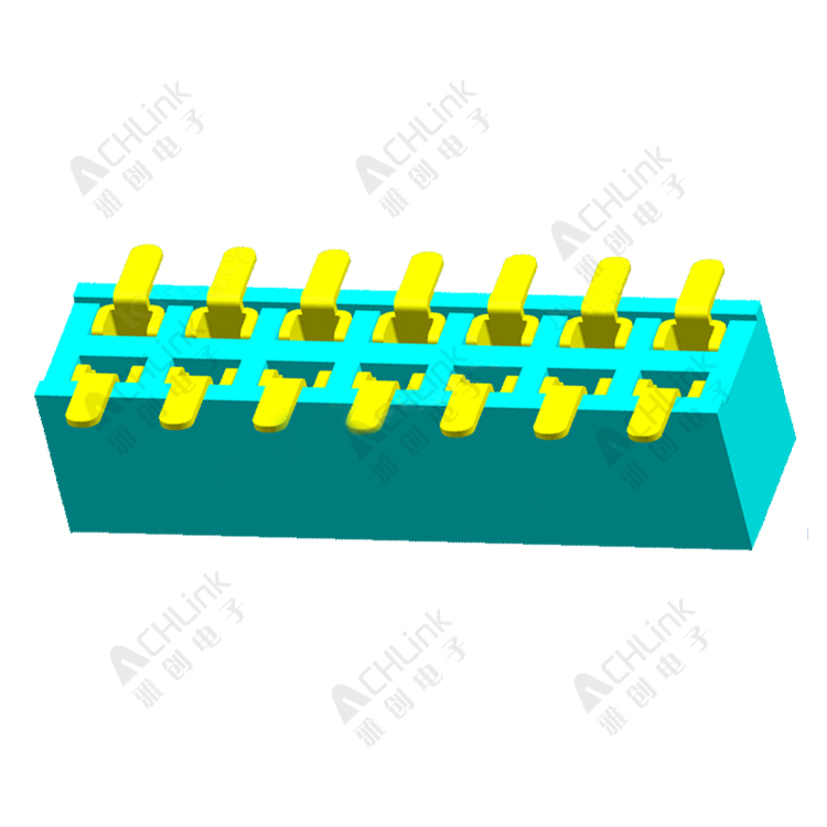 Female Header1.27MM double row smt H=4.3mm