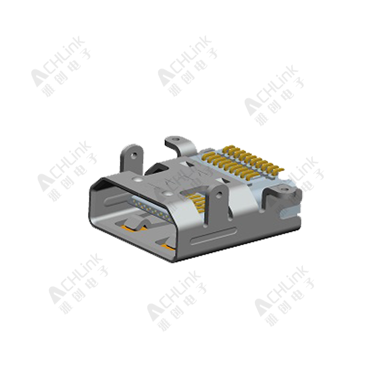 Micro HDMI (D type) 19Pin receptacle 0.40 Pitch. Top-mount. Board-Height=2.95mm Dual-SMT type