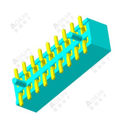 Female Header 1.0mm double row SMT with positioning column H=2.1MM