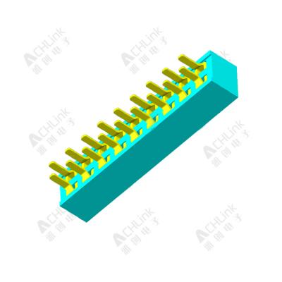 Female Header 1.27MM double row 180 degrees H=2.0MM