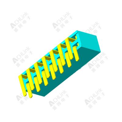 Female Header1.27MM double row 90 degrees H=3.4MM