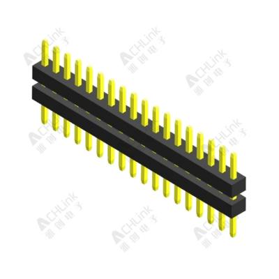 PIN HEADER PH1.0MM SINGLE ROW DOUBLEPLASTIC 180° H=1.00MM