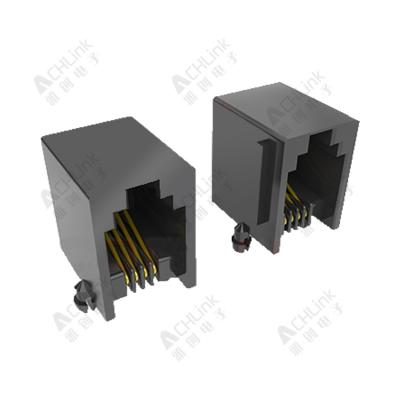 RJ11 CONNECTOR 4P4C 90° ALL-PLASTIC