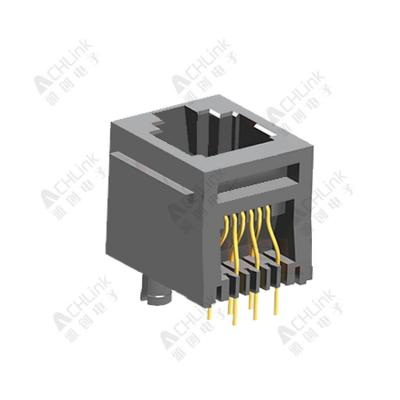 RJ11 CONNECTOR 6P6C 180° ALL-PLASTIC