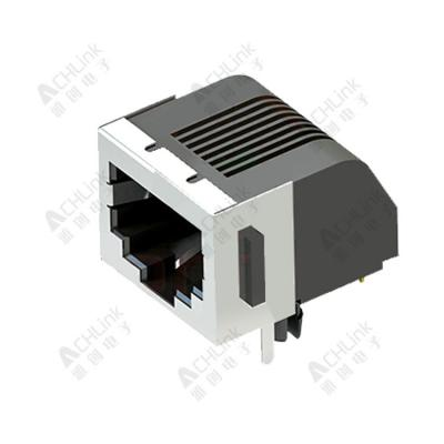 RJ45 CONNECTOR 8P8C 90° HALF SHELL