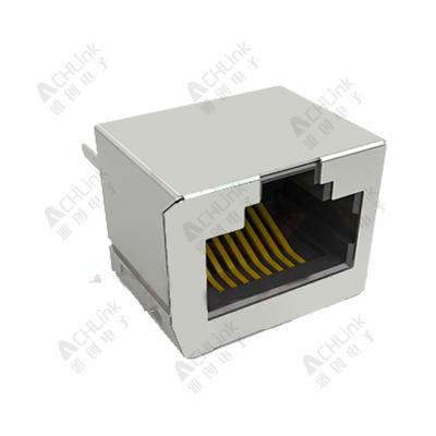 RJ45 CONNECTOR 8P8C 180° LRON SHELL PACKAGE